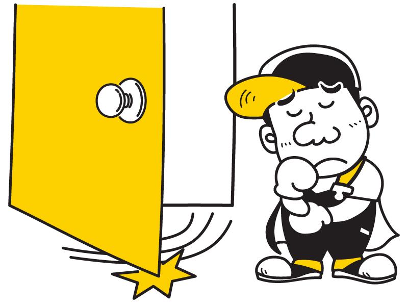 玄関・門扉の歪み